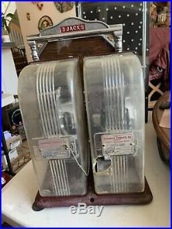Vintage Antique Schermack Countertop 2&3 Cent Postage Stamps Vending Machine