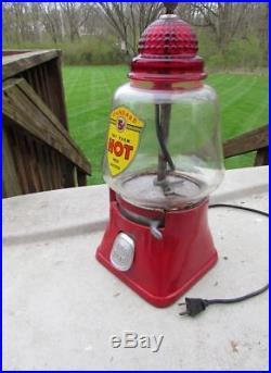 Vintage Antique Silver King Regal Hot Nut Peanut Vending Machine (Gumball)