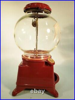 Vintage Antique Very Rare Model D Columbus Gumball Machine