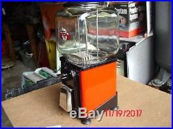 Vintage Antique Victor Topper Gumball Vending Machine Restored