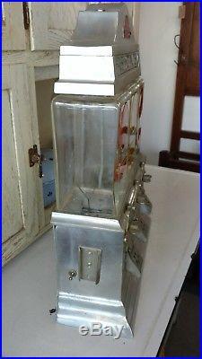 Vintage Art Deco 5¢ 10¢ Ajax Challenger Deluxe Fresh Hot Nut Vending Machine 40s