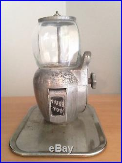 Vintage Art Deco 5 Cent Gum Ball/ Peanut Machine By Allas Bantam