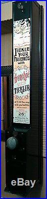 Vintage Art Deco Condom Vending Machine Noveltone $. 25 Coin Op with OEM Condoms BG