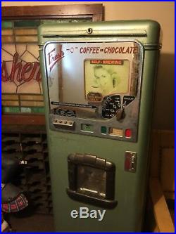 Vintage Art Deco Stoner Coffee Vending Machine Coin Operated