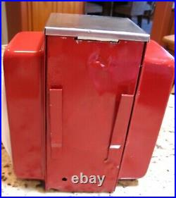 Vintage Ask Swami Napkin Holder Fortune Dispenser Trade Stimulator Coca Cola Red