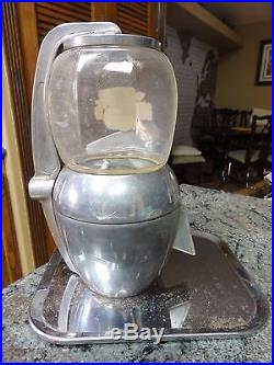 Vintage Atlas Bantam 5 Cent Candy Peanut Gumball Vending Machine Chlorophyll Gum