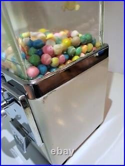 Vintage Atlas Master 1/5 Cent Candy Gumball Machine With Key and Works Original