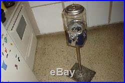 Vintage BEAVER FUZZY BRUSH Dentist Office GUMBALL MACHINE WithStand & Key 4 Repair