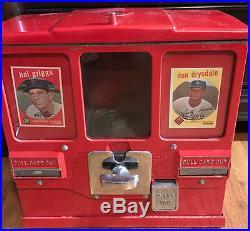 Vintage Baseball Card Vending Machine