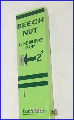 Vintage Beech Nut chewing gum vending machine original restored and rare