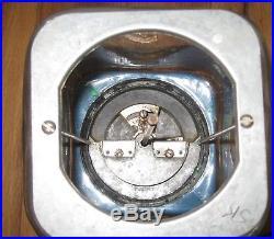 Vintage Blue Acorn 1 Cent Glass Gumball Vending Machine Oak Key Works Rare