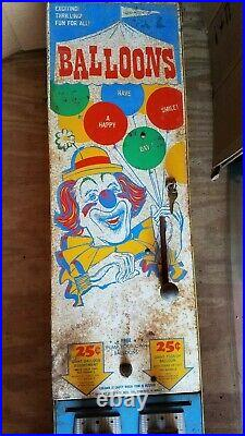 Vintage Bozo The Clown Big Top Balloon Coin Op Vending Machine Operated Chicago