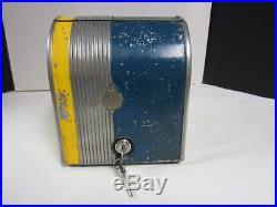 Vintage Buddy Trade Stimulator 3 Reel 1 Cent Gumball Vender Machine Game