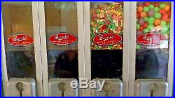 Vintage Bunte Brothers Belvend Candy Dispenser/Machine 1 Cent working condition