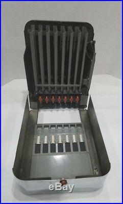 Vintage C1937 Rowe 5 cent Metal Gum & Mint Vending Machine