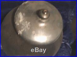Vintage CAST ALUMINUM GUMBALL MACHINE ANTIQUE Rare Honey Dew (BROKEN Globe)