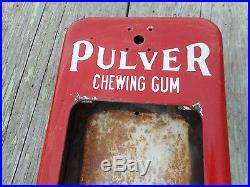Vintage COIN OPERATED PULVER 1 Cent CHEWING GUM Machine Porcelain CASE PART ONLY