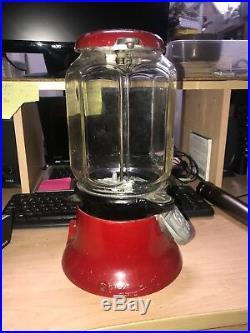Vintage COLUMBUS One Cent 1 Penny Gumball Porcelain Cast Iron Vending Machine