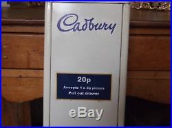 Vintage Cadbury's Chocolate Vending Machine Lock removed
