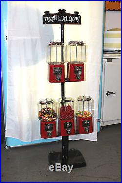 Vintage Candy Machine 5 pull Coin-Op Vending Machine Fresh and Delicious