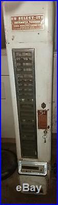 Vintage Candy Vending Machine With Original Base U Select It U-select-it