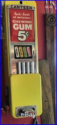 Vintage Canteen 5 cent pack Gum Stick vending machine PICK UP ONLY