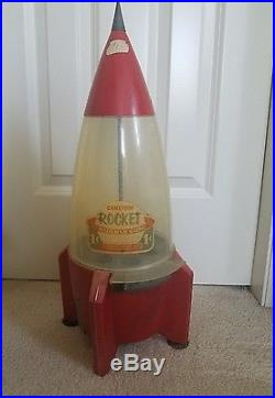 Vintage Carlton Candy Company Rocket Bubble Gum Machine Chicago Illinois 1950's