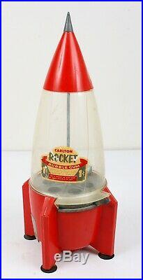 Vintage Carlton Rocket Gumball Machine GREAT CONDITION Missing Key L@@K