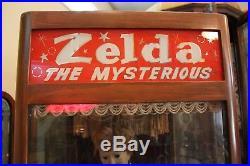 Vintage Carnival Zelda Fortune Teller Coin Op Machine 1950's