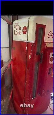 Vintage Cavalier 1950's Coca Cola Vending Machine 96 Soda's Resto Works