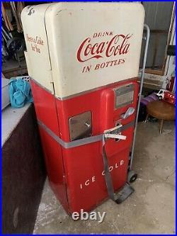 Vintage Cavalier C51 Coca-Cola Vending Machine with Bottles