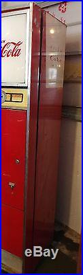 Vintage Cavalier Coca Cola Machine. CS 96D. Running and Blowing Cold