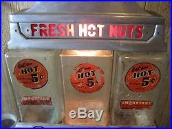 Vintage Challenger Deluxe Fresh Hot Nuts Gumball Vending Machine