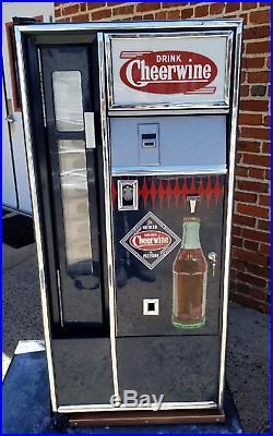 Vintage Cheerwine sign soda bottle vending machine cooler coke coca coca pepsi