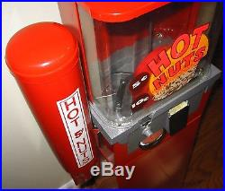 Vintage Coast 5 Cent Light Up Hot Nut Vending Machine with Cup Dispenser