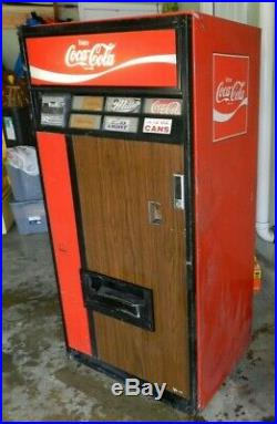 Vintage Coca-Cola Vending Machine Model V125 from the 1970's