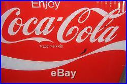Vintage Coca Cola Vending Machine Sign Insert 23 3/4 X 20 1/2