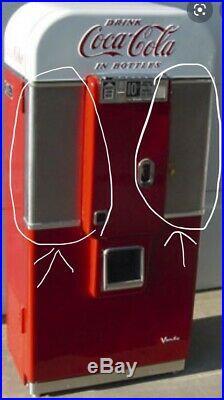 Vintage Coca Cola Vending Machine Vendo 80 Parts Door COKE