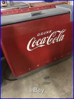 Vintage Coca Cola Westinghouse We-6 Ice Chest Cooler! Indiana 7up Pepsi