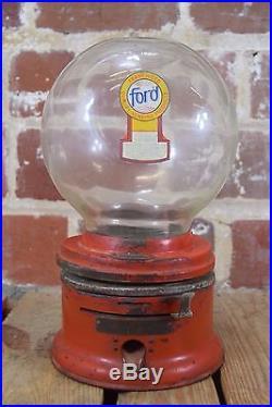 Vintage Coin Ford Gum and Machine Co Gumball Machine Gum Vending Machine
