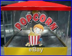 Vintage Coin Op 10 Cent Popcorn Vendor 1960's Federal Machine Restored Working
