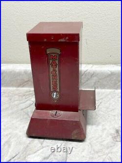 Vintage Coin Op Northwestern 1 Cent Match Vending Machine Gas Station/Man Cave