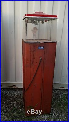 Vintage Coin Op Popcorn Warmer Vending Machine Federal Machine Local PU