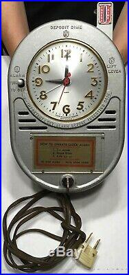 Vintage Coin Operated 10 Cent Motel Alarm Clock With Session Clock With Both Key