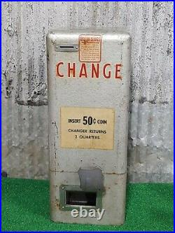 Vintage Coin Operated Arcade 50c Change Machine Changer Quarters Coin-op Pinball