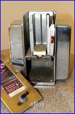 Vintage Coin-Operated Ask Swami Fortune Dispenser Napkin Holder 1950's