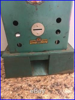 Vintage Coin Operated Columbus Matches Machine