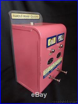 Vintage Coin Operated Perfume Vending Machine Dispenser 1950's Pink