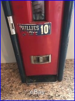 Vintage Coin Operated Phillies Cigar Machine Rare Man Cave
