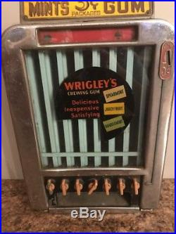 Vintage Coin Operated Rowe Wrigleys Gum Life Savers Mint Vending Machine